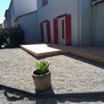 Terrasse en pin posée à Bouguenais par 15n Menuiserie