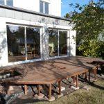 Terrasse en bois sur-élevée