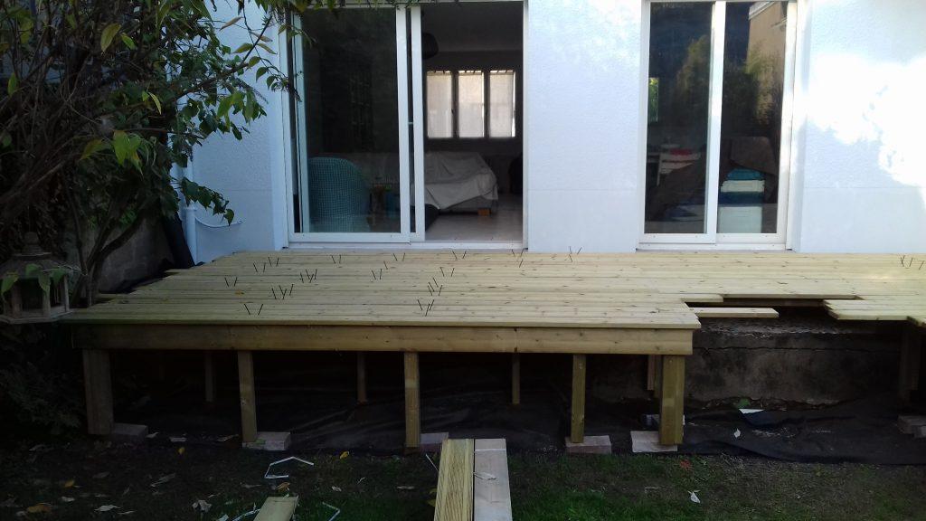 terrasse sur lev e artisan menuisier bois en loire atlantique 44 terrasse pergolas. Black Bedroom Furniture Sets. Home Design Ideas