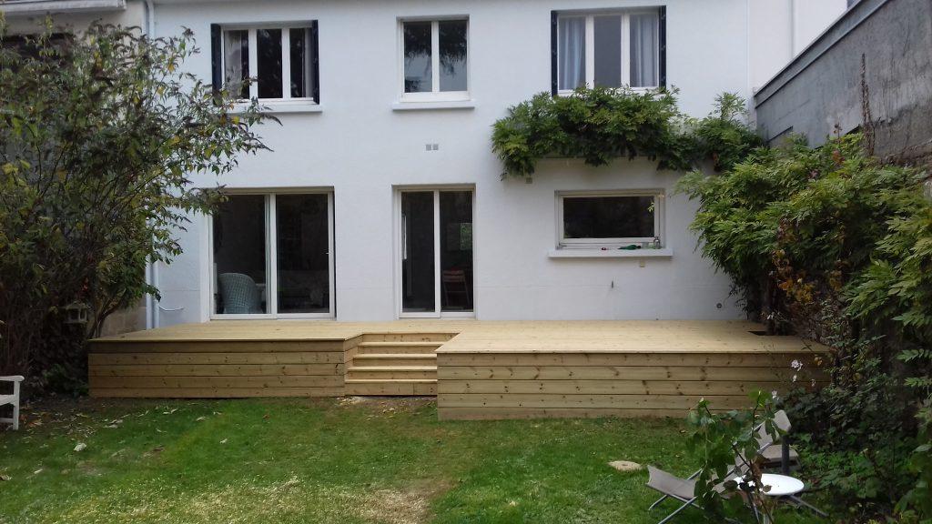 terrasse sur lev e artisan menuisier bois en loire. Black Bedroom Furniture Sets. Home Design Ideas