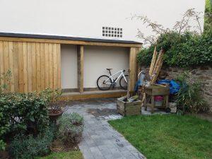 Cabane de jardin nantes pin traité CLA - menuiserie sur-mesure