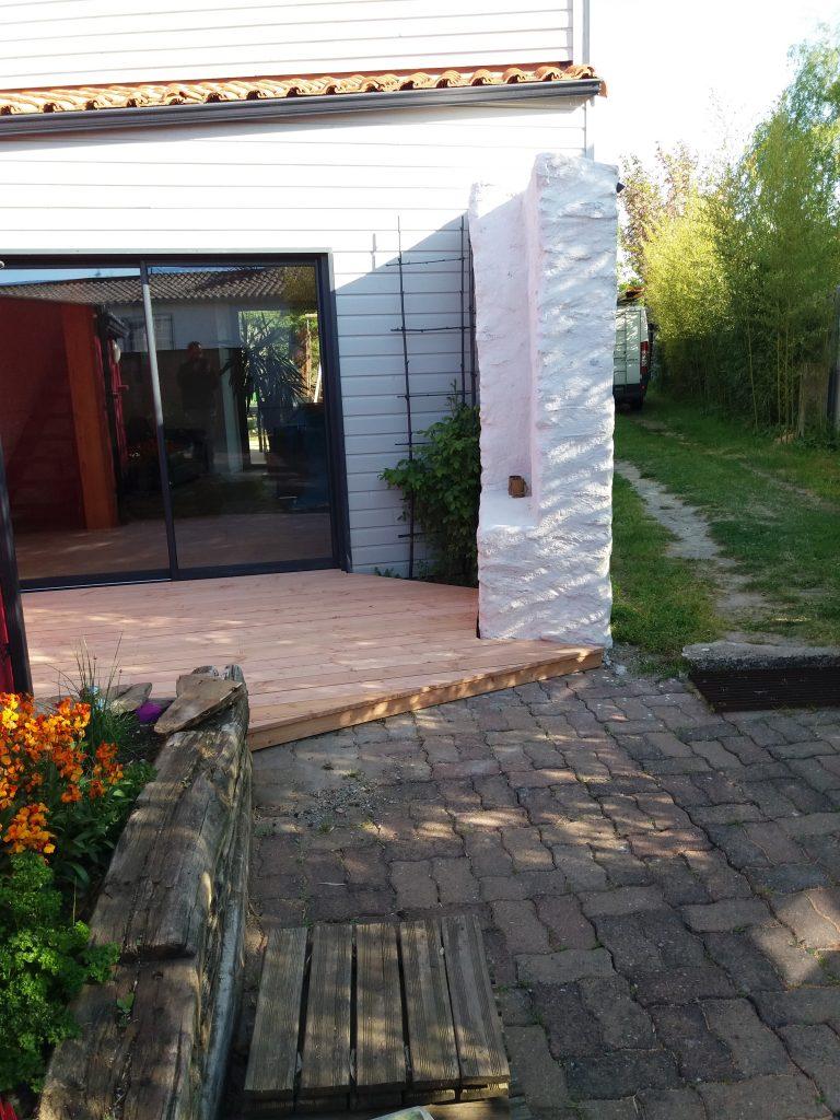 terrasse en bois douglas st julien de concelles 44 artisan menuisier nantes. Black Bedroom Furniture Sets. Home Design Ideas