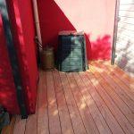 chantier terrasse saint julien de concelles en douglas (menuisier nantes)