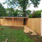 Abris,terrasse pin mélèze,palissade et portillons