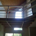 Mezzanine bois sans assemblage visible